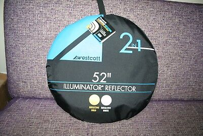 "Westcott Illuminator Collapsible 2-in-1 Gold/White Bounce Reflector  (52"") NEW"