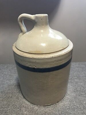 Blue Band Stoneware Antique - 1 Gallon Jug - NO RESERVE
