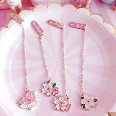 Novelty Cherry Sakura Pendant Bookmark Stationery School Office Random delivery