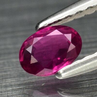 Rare! 0.34ct 4.8x3.6mm Oval Natural Unheated Fiery Pinkish Red Ruby, Mozambique