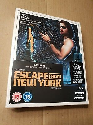 Escape From New York 4K UHD Blu Ray 4 Disc Set Limited Edition OOP New Sealed