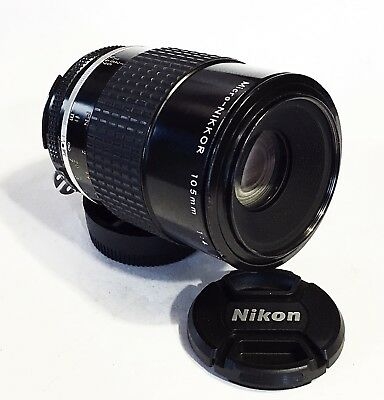 NIKON MICRO-NIKKOR 105mm F/4 Ai-S Lens with Caps MINT-