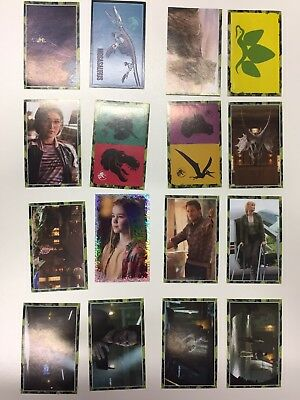 Jurassic World Fallen Kingdom Stickers Panini X 16