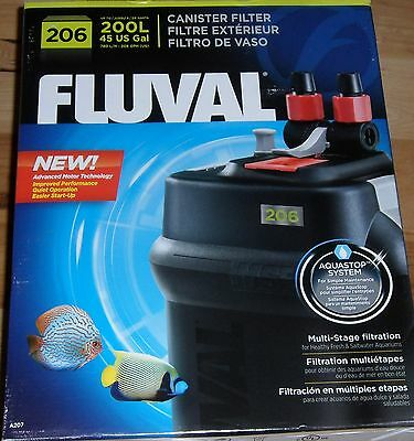 Brand New Fluval 206 A207 External Canister Filter Aquastop System Free Shipping