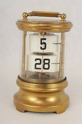 Antique Junghans Brass Plato Ticket Flip Clock, Needs Attention.