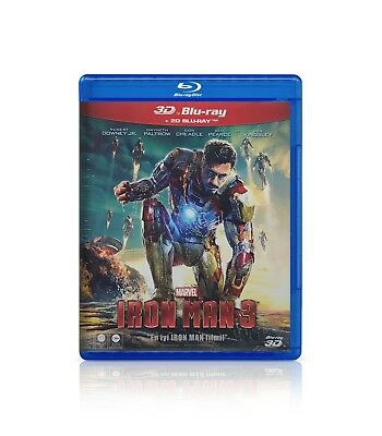 Iron Man 3 3D+2D (Blu-ray)(Brand New)