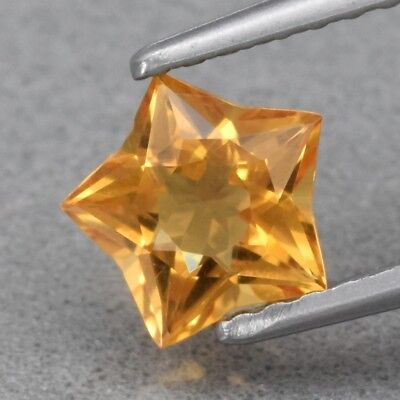 Top! VVS 0.61ct 6.2x6mm Star Natural Yellow Citrine, Brazil