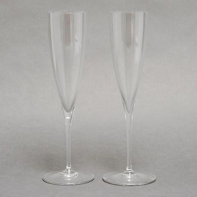 Pair Baccarat Crystal Dom Perignon Champagne Flutes