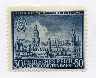 German Occupation of Poland 1942 Early Issue Fine Mint Hinged 50gr. 297112