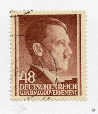 German Occupation of Poland 1941 Hitler Early Issue Fine Used 48gr. 297134