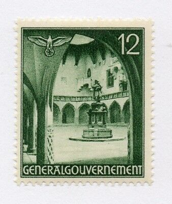 German Occupation of Poland 1940 Early Issue Fine Mint Hinged 12gr. 297170