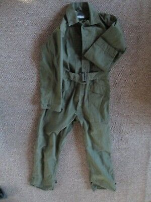 WWII Original US HBT Overalls appear as MINT, Star Buttons 34R