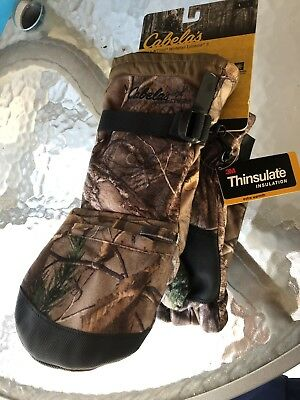 2d1b7853ebe55 Cabela's Men's MT050 Extreme II Glomitts Thinsulate Insulation Realtree  MEDIUM