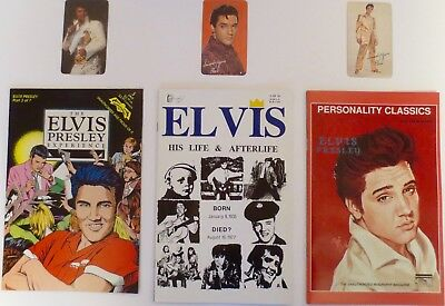 Elvis Presley Lot Of Three  Comic Books Plus Three Pocket Calendars  '68, 69, 75