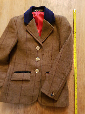 Tweed show jacket childrens Top Quality Le Beau Cheval