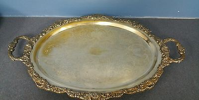 EPCA BRISTOL SILVERPLATE BY POOLE DECORATIVE SERVING TRAY 20x13""