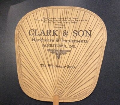 Rare Winchester Store Church Hand Fan Advertising Hardware Stores
