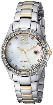 Citizen Eco Drive Womens Quartz Stainless Steel Casual Watch   FE1144-85B NWT