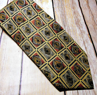 "COCKTAIL COLLECTION ""Brandy"" 100% Imported Silk Necktie 60"" Made in USA Diamond"