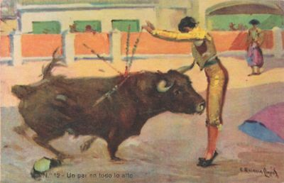 Bullfighting in Spain - Un par en todo lo alto - Artist Signed - DB