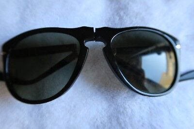 450a471c6d653 Persol Ratti Mod 806 Folding Black Vintage Made In Italy Sunglasses 70 s  Used