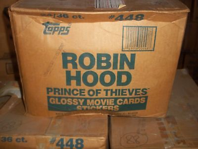 1991 Topps Robin Hood Prince of Thieves Factory Sealed Wax Box Case w/ 24 Boxes