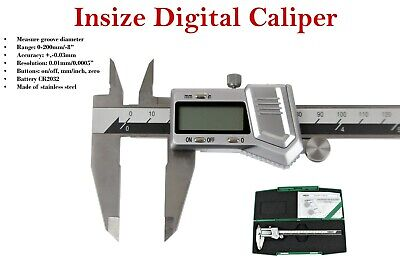 "Insize electronic digital caliper 0 - 200mm/0 - 8"" (1114 -200A) battery included"