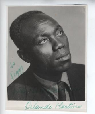 ORLANDO MARTINS NIGERIAN Yoruba prominent and leading black actor signed photo