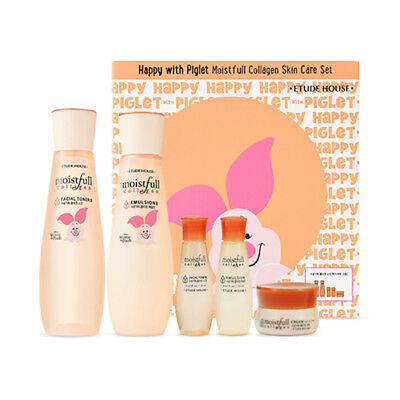 [ETUDE HOUSE] Happy With Piglet Moistfull Collagen Skin Care Set - 1pack(2items)