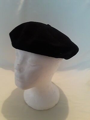 c93b4c192ac Super Basque French Beret Navy Blue 100% Wool Hat Made in France 55cm 6-