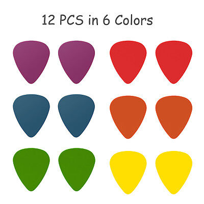 Electric Guitar 12pcs Acoustic Electric Guitar Pick Plectrum Assorted thickness