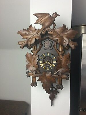 Antique German Black Forest Cuckoo Clock, Kuehl Clock Co., Restoration Project.
