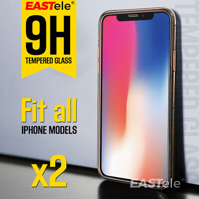 2x EASTele For Apple iPhone 11 Pro XS Max XR X Tempered Glass Screen Protector