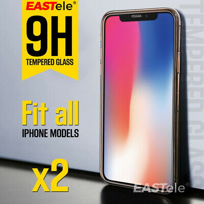 2x GENUINE EASTele Apple iPhone XS Max XR X Tempered Glass Screen Protector Film