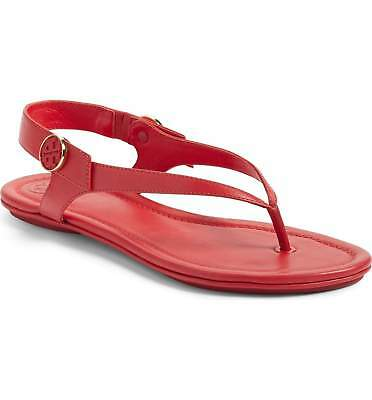 5a4450b75f10 NIB Tory Burch Minnie Travel Thong Sandals Shoes Nantucket Red 8 M Run small