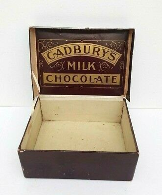 Vintage Cadbury Milk Chocolate Box, Cadbury, Chocolate box,Cardboard Advertising