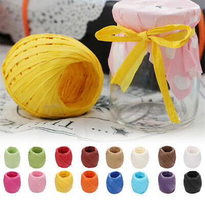 20m/roll DIY Raffia Ribbon Cord Rope For Box Paper Rope Gift Packaging Decor