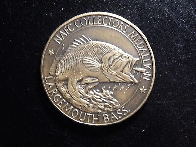Nafc Collector's Medallion Large Mouth Bass N.a. Fishing Club Token!  Bb484Usc2