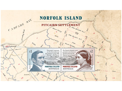 Pitcairn Settlement@norfolk 2019 Gh Nobbs & Victoria Sheet Mnh