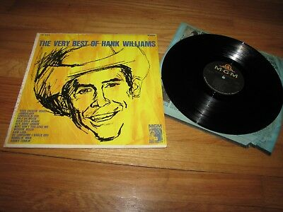 Hank Williams - The Very Best Of Hank Williams - Mgm Records Lp