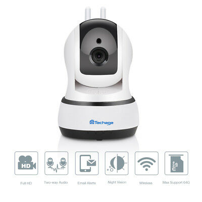 Techage 1080P Wireless 2.0MP Baby Two-Way Audio Security CCTV Camera WiFi Webcam