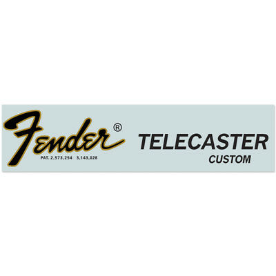 Fender® Custom Telecaster® Waterslide Headstock Decal GOLD & BLACK