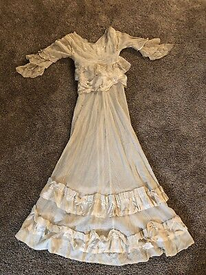 Antique Victorian Lace Wedding Dress Hand Made