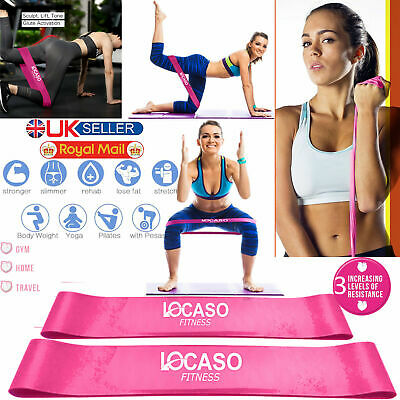 Set of 1x Resistance Exercise Loop Bands Yoga Pilates Fitness Natural Latex