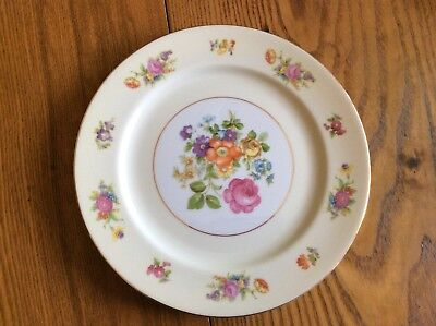 """Rose China 10"""" Dinner Plate Made in Occupied Japan"""