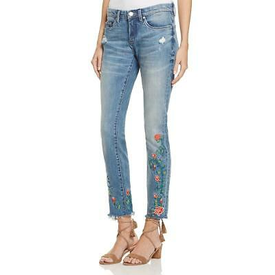 3ef260189d9 Blank NYC Womens Blue Wild Child Wash Embroidered Skinny Jeans 26 BHFO 9080