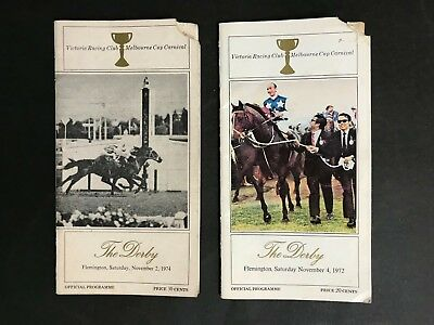Race Book Lot Of 2 V.r.c The Derby Meetings 1972, 1974