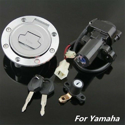 Ignition Switch Gas Cap Seat Lock Key Set for Yamaha FZ8 2011-13 FZ6 FZ6R 04-16