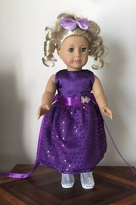Our Generation American Girl, Journey Girl Doll Purple Dress, Silver Butterflies