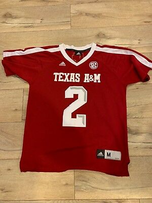 Johnny Manziel #2 Texas A&M NCAA Replica Red Jersey. Adult Medium.